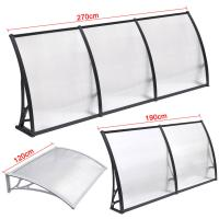 Quality Durable Solid Polycarbonate Awning , PC Door Canopy Patio Cover Long Life Span wholesale
