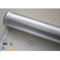 Quality 0.8mm Thermal Insulation Materials Break Twill Silver Coated Silica Cloth wholesale