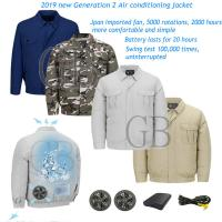 Quality Factory Fan Air Conditioning jacket Summer Site Outdoor Camouflage Cooler Fan Clothes Fireproof Welding Cooling Ice coat wholesale