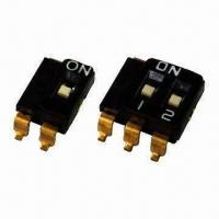 Quality Multipole DIP Switch with 2.54mm Pitch, 1 or 2 Common Lead, Selector Function wholesale