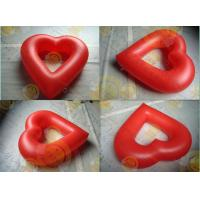 China Party Inflatable Advertising Helium Balloons Attractive Red Love Shaped on sale