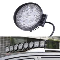 Cheap 27W Round Vehicle LED Work Lights DC 9-30V 1620 Lm Lumens , Stainless Steel Bracket for sale