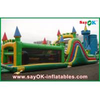 China Castle Shape Inflatable Bouncer With Slide / Inflatable Combo For Park on sale