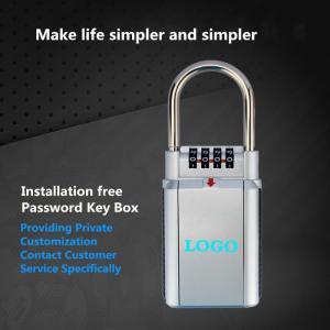 China Cat Eye Zinc Alloy Key Storage Box With Combination Lock Home Decoration Use on sale