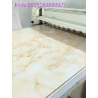 China PVC stone plastic decorative board production line on sale