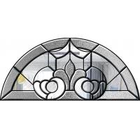 Buy cheap Door / Window Glass Patterns, Brass / Nickel / Patina Decorative Glass Panels from wholesalers