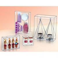 Buy cheap clear printing palstic box for cosmetics package,beautiful cylinder container from wholesalers