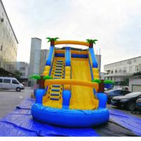 China PVC Tarpaulin Inflatable Amusement Park Double Lane Blow Up Slide For Sports Game on sale