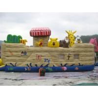 China Inflatable Ship Playground With Cartoon Animals For Kids Amusement on sale