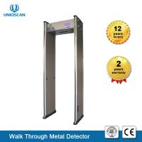 Quality 6 Digital Security Walk Through Metal Detector 2 Years Warranty With Brush Real Wood wholesale