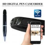 720P HD WIFI P2P Pen Spy Hidden Camera Covert Video Streaming Recorder Home Security Nanny Camera Remote Baby Monitor