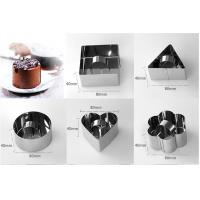 Cheap Square Shaped Mousse Ring Molds For Cooking , Mini Cheesecake Mould For Home for sale