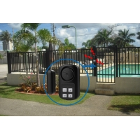 China 140db Magnetic Wireless Pool Door Alarm With Remote Control on sale