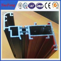 China 6063 powder coating aluminum windows and doors profile over 60um film thickness on sale