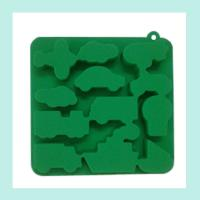Quality green silicone ice tray ,animals shape silicone ice trays wholesale