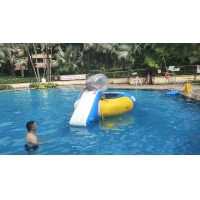 Quality 0.7mm Inflatable Water Trampoline Combo With Slide wholesale