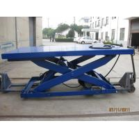 Quality Stationary Type Hydraulic Scissor Lift Table , Manual Lift Table With 500 - 5000 Kg Load wholesale