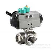 Quality 600lb 3 Way Ball Valve For Gas Industry With 2 Port , API 6D Valve wholesale