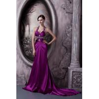 Quality Empire Halter Sweetheart Mermaid Womens Party Dresses Long Prom Gowns With Beads wholesale