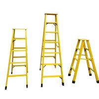 Cheap Fiberglass extension insulated ladder FRP Industrial step ladder for sale