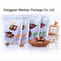 Quality Nut Snack Packaging Standup Food Zipper Pouch With Easy Tearing Notch , Clear Window wholesale