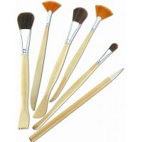 Quality Synthetic & Wool & Mixture Hair Artist Painting Brushes Set Aluminium Ferrule Handle wholesale