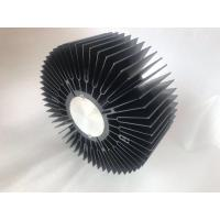 Big size black anodized aluminum extrusion sunflower heatsink skiving drilling machining