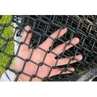 Quality Black Vinyl Coated Chain Link Wire Mesh Carbon Steel 1.2mm - 5.0mm Diameter for sale