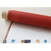Quality Single Sided Red Silicone Coating Fiberglass Cloth 50 Meters High Strength 100g wholesale