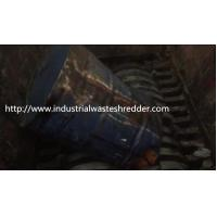 China Double Shaft Large Industrial Metal Shredder Auto Overload Reverse For PET Drum on sale