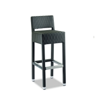 Quality All Weather High Back W50cm H104cm Wicker Seat Bar Stools Easy To Clean wholesale