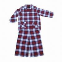 Quality Children's sleepwear, 100% woven brushed cotton twill, fire-resistant, with customized designs wholesale