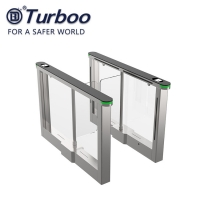 Quality High End Speed Acrylic Swing Barrier Turnstile With LED Light wholesale