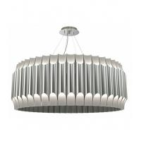 China Contemporary Sculptural Galliano Round Chandelier Pendant Lamp PIPES Chrome / Brass Finish on sale