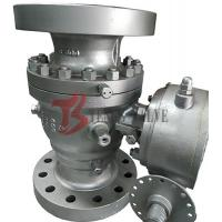 Quality API Cast Soft Seated Ball Valve WCB Trunnion Ball Valve 600LB Full Port 2PC Body Gear Operated wholesale