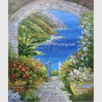 China Modern Palette Knife Oil Painting  , Scenery Garden Flower Painting Thick Oil on sale