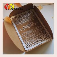 Quality Floral lace wedding invitation card birthday card with laser cut wordings wholesale