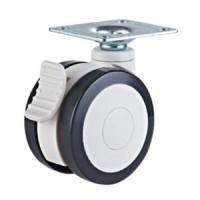 Quality Dual wheels medical caster with brake wholesale