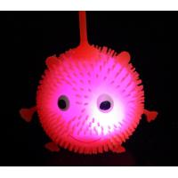 Quality Ferhat Ball,Glowing fur ball Smiling face flash tension maomao ball Luminous toy wholesale