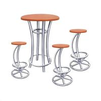 China Aluminum Bar Truss Table and Truss Chair With Round Legs on sale