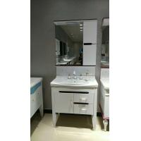 Buy cheap 80cm White Painting Washbasin Mirrored PVC Bathroom Cabinet With Legs from wholesalers