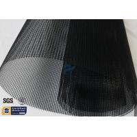 Quality 4X4MM Black Teflon PTFE Coated Fiberglass Mesh Fabric Conveyor Belt Heat Sealer wholesale