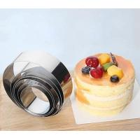 Quality Food Grade Adjustable Cake Mold , Small Baking Ring Molds For Cake Layer Slicer wholesale