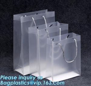 China Promotional customized high quality soft loop plastic cloth bag,manufacturer custom soft loop handle polyethylene PE pla on sale
