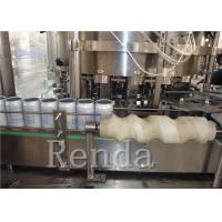 9KW 220V Carbonated Drink Filling Machine with Gas Sealing / Cans Washing Coconut Porridge