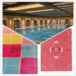 Quality 3W Pool/Bathroom/Washing Room/Kitchen Plastic Interlocking Maze Leak Grid Flooring Factory wholesale