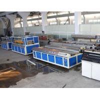 Cheap Double - Screw PVC Wood Plastic Board Production Line For Window Profile for sale