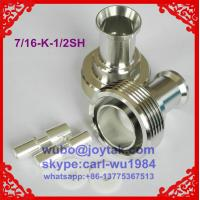 Buy cheap DIN 7/16 female connector soldering type for 1/2superflexible cable all brass factory selling from wholesalers