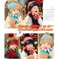 China Children Skullies & Beanies Scarf Hat Set Baby Boys Girls Knitted kids Hats & Caps on sale