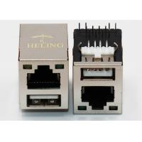 China LED Aligned R / A USB HDMI RJ45 Female Connector 8P8C Side Entry Thru - Hole on sale